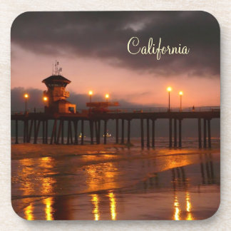 Californian Sunset - Huntington Beach Pier Coaster