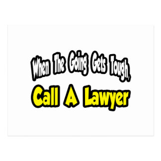 Call a Lawyer Post Cards