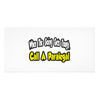 Call a Paralegal Picture Card