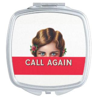 Call Again Cigar Label Compact Vanity Mirrors