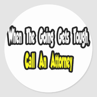 Call an Attorney Stickers