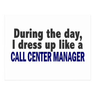 Call Center Manager During The Day Postcard