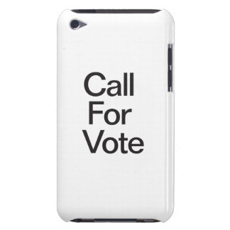 Call For Vote iPod Touch Case-Mate Case