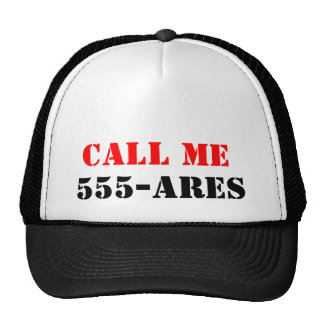 Call ME 555-ares Mesh Hat