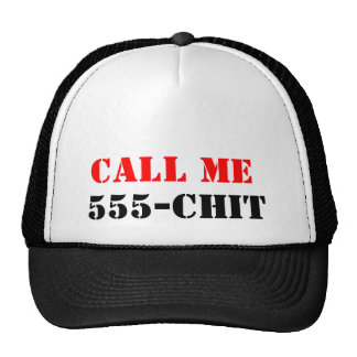 Call ME 555-chit Hats