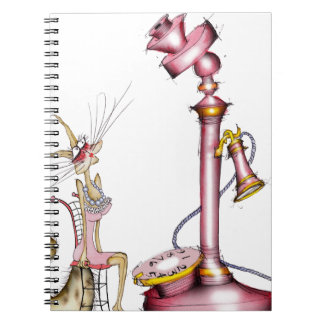 call me - a wonderful cat cartoon, tony fernandes spiral notebooks