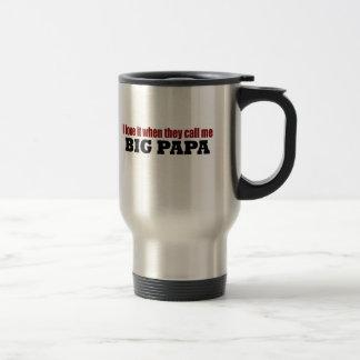 Call Me Big Papa Stainless Steel Travel Mug