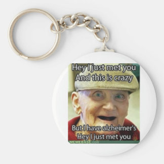 Call Me Crazy Basic Round Button Key Ring