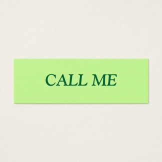 CALL ME PROFILE CARD