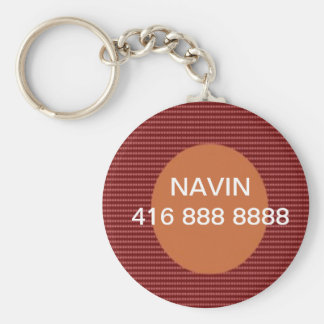 CALL-ME-Svp  Replace Name and Phone Number Basic Round Button Key Ring