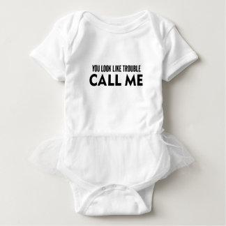 Call Me Trouble Baby Bodysuit