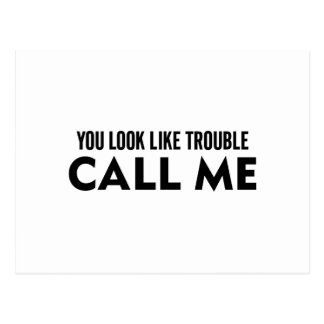 Call Me Trouble Postcard
