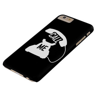 Call me Vintage phone White on Black iPhone6+ case