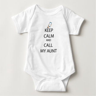 Call my aunt baby suit baby bodysuit