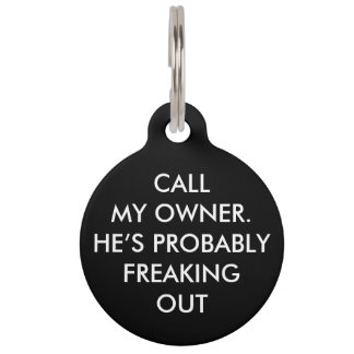 """""""CALL MY OWNER"""" PET TAG"""