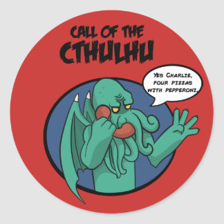 call of the Cthulhu Classic Round Sticker