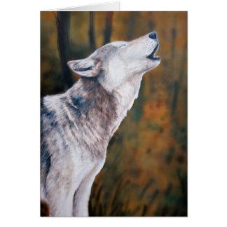 """Call of the Wild"" Wolf Art Notecard"