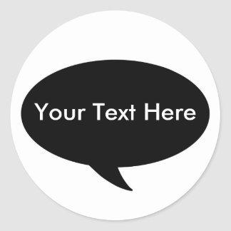Call Out - Place Your Text Classic Round Sticker