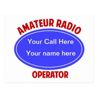call QSL Postcard