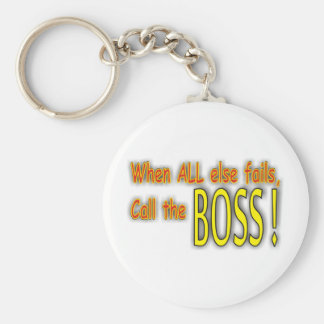 Call the Boss Basic Round Button Key Ring