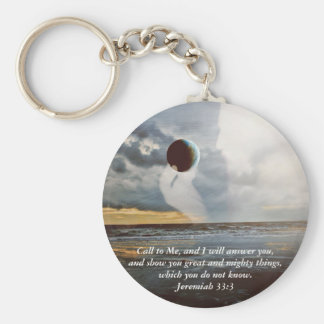 Call to Me ~ Christian Bible Verse Encouragment Basic Round Button Key Ring