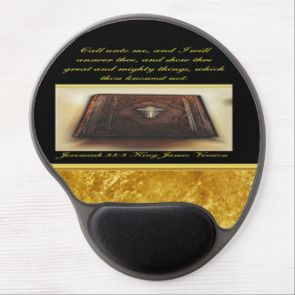Call unto me, and I will answer thee Jeremiah 33:3 Gel Mouse Pad