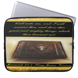 Call unto me, and I will answer thee Jeremiah 33:3 Laptop Sleeve