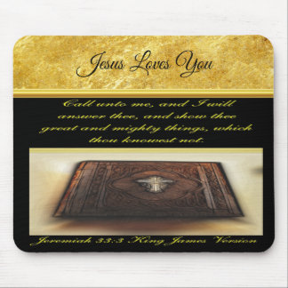 Call unto me, and I will answer thee Jeremiah 33:3 Mouse Pad