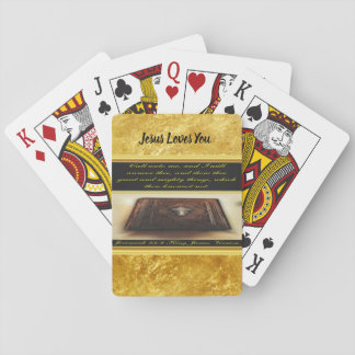 Call unto me, and I will answer thee Jeremiah 33:3 Playing Cards
