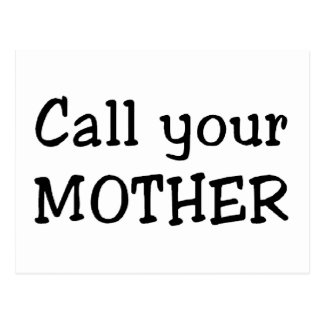 Call your mother postcard