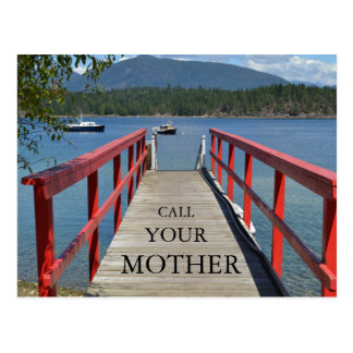 """Call Your Mother"" Postcard"