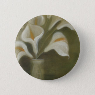 Calla Cut Flowers In A Vase 6 Cm Round Badge
