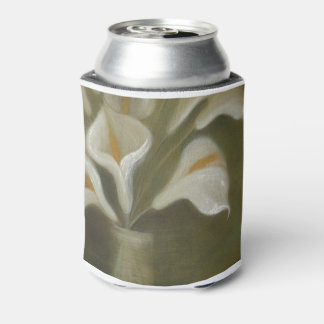Calla Cut Flowers In A Vase Can Cooler