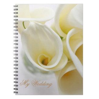 Calla lilies arranged notebook