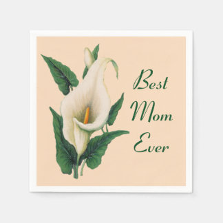 Calla Lilies Best Mom Ever Paper Serviettes