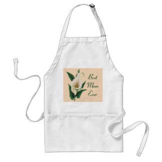 Calla Lilies Best Mom Ever Standard Apron