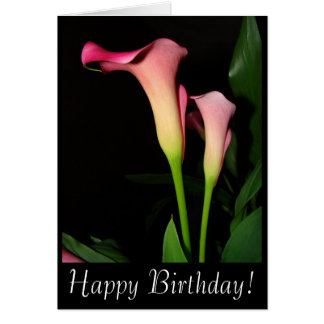 Calla Lilies Birthday Card