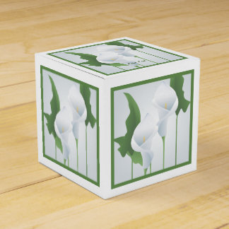 Calla Lilies Custom Party Favor Box Wedding Favour Box