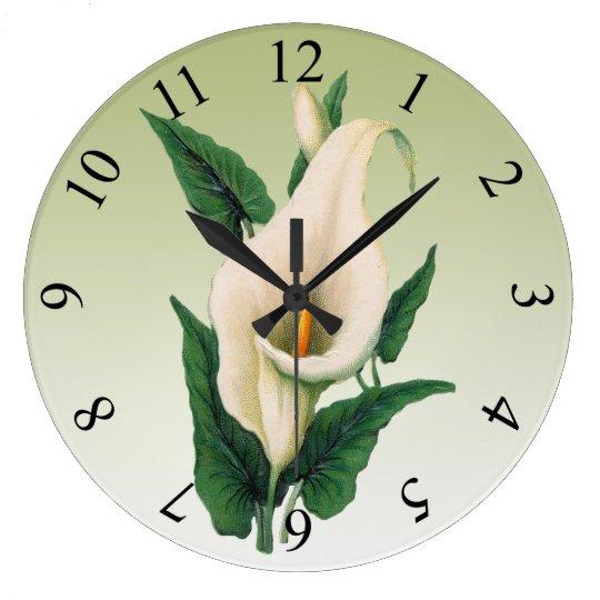 Calla Lilies Large Clock