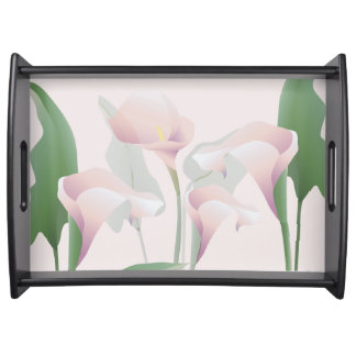 Calla Lilies Lily Flowers Floral Pink Tray Food Tray