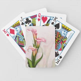 Calla Lilies Pink Playing Cards