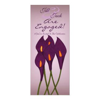 Calla Lilies (Purple) 10 Cm X 24 Cm Invitation Card