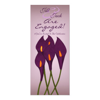 Calla Lilies (Purple) 4x9.25 Paper Invitation Card