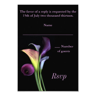Calla Lilies RSVP card 9 Cm X 13 Cm Invitation Card