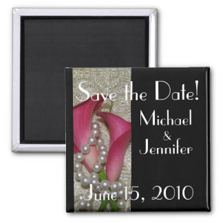 Calla Lilies Save the Date Magnet