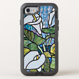 Calla Lilies Stain Glass Look OtterBox Defender iPhone 7 Case