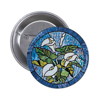 Calla Lilies Stain Glass Look Pin