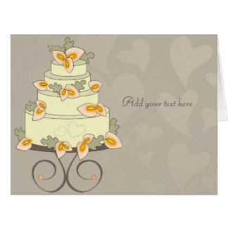 Calla lilies wedding cake card