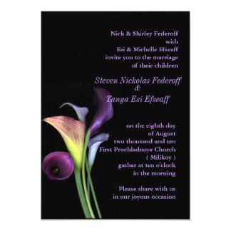 """Calla Lilies Wedding Invitation 5"""" X 7"""" Invitation Card"""