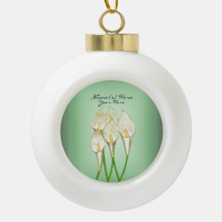 Calla Lilies (White) Ceramic Ball Decoration